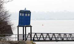 TARDIS (Time Grabber) Tags: timegrabber cardiffbay southwales freshwaterbay thetardis drwho timeandrelativedimensioninspace