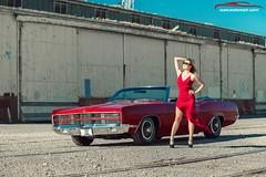 1969 Ford Galaxie Convertible (spotandshoot.com) Tags: 1969 adelaide ltd mileanso portadelaide southaustralia american automotivephotography car carandgirl dress fashion ford girl model red sa australia