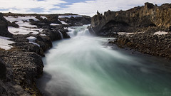 So I'm bound where the wild river rolls (lunaryuna) Tags: iceland centralnorthiceland landscape riverskjálfandafljót goðafoss rockformation beauty nature wildriver le longexposure lunaryuna