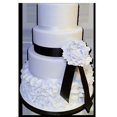Ruffles & Peony Wedding Cake
