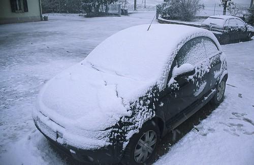 Bombonera con neve