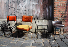 in the alley (_barb_) Tags: topv111 alley chairs decay fitzroy australia melbourne cmchair cmchairs