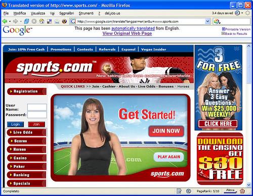 Betting website uncensored through Google translate