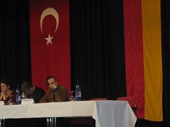 Podiumsdiskussion zum Gesinnungstest für Muslime: Henning Schürig (rechts) neben Rainer Grell