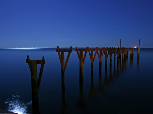 Pascagoula Pier at Night