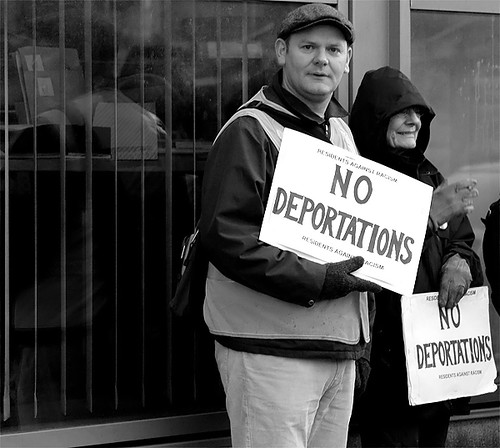 Someone against deportation
