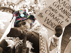change the world (sashamd) Tags: downtown montreal demonstration invitation centreville manifestation raginggrannies shoup changetheworld spring2006 conflictinafganistan checlaguerre