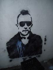 March 13: You Lookin at Me? (earthdog) Tags: 15fav graffiti stencil 2006 travisbickle taxidriver needstags robertdeniro needstitle needscamera needslens