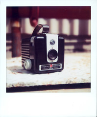 Bakelite Beauty (got2knit) Tags: square polaroid sx70 bhf browniehawkeyeflash photodotocontest1 bhfbk