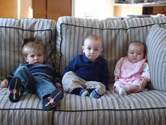 Liam, Otto and Hallie