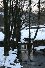 Two Gates (Sara Richer) Tags: winter snow tag3 taggedout stream tag2 tag1 lakedistrict