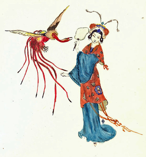 Japanese lady with bird