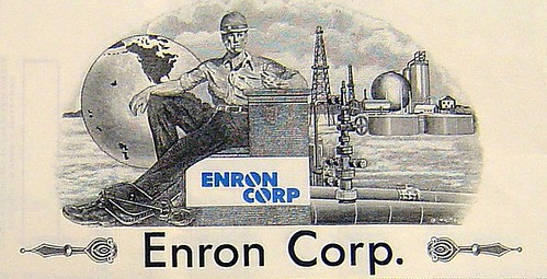 """Enron Corp. Stock Certificate"""