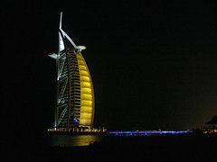 Burj al Arab at Night (jeffinmoscow) Tags: night hotel dubai emirates burjalarab luxury futuristic 7star interestingness409