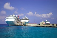Cozumel (jacreative) Tags: cruise blue vacation sky water port mexico harbor dock ship yucatan cozumel royalcaribbean enchantmentoftheseas jacreative