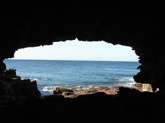 Window with view (pierre pouliquin) Tags: ocean beach rock coast pacific picturesthroughholes australia shore nsw southcoast saltwatercreek sapphirecoast benboyd