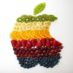Retro Apple Logo fruit salad - by flickrich