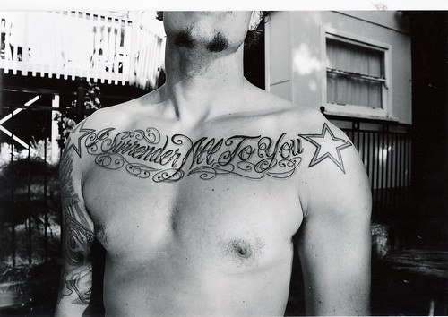 chest tattoo by straitoutacompton