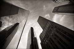 provoke (davemacintosh) Tags: nyc blackandwhite streetphotography touchthesky