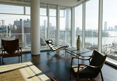 Living Room 2 (baobee) Tags: nyc glass architecture apartment furniture interior architect westside richardmeier meier curtainwall danishmodern