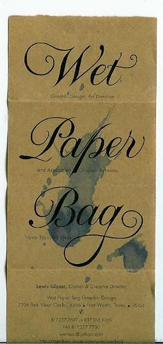 wet paper bag