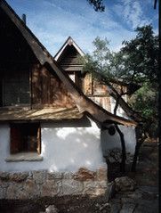 Exterior back (Gary Zuker) Tags: house building home architecture straw plaster cob hobbit strawhouse strawclay