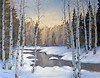Winter Aspen Oil Painting