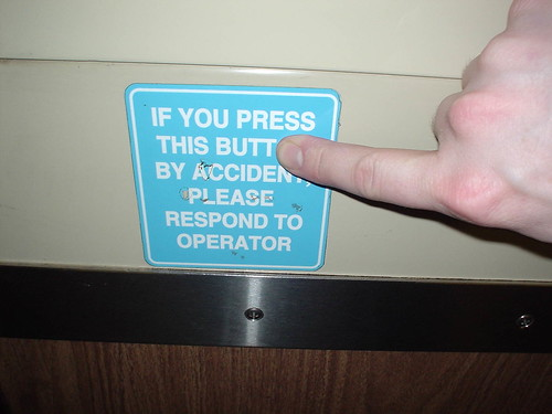 If you press this butt by accident