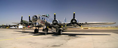 boeing b-17g flying fortress (MatthewPHX) Tags: arizona autostitch worldwarii boeing airforce douglas bomber caf mesa 1944 ffz sentimentaljourney bettygrable falconfield b17g commemorativeairforce mireasrealm interestingness402 i500 eighthairforce cafarizonawing