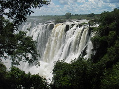 Victoria Falls - Main Falls 1 (SqueakyMarmot) Tags: africa travel nature ilovenature waterfall zimbabwe victoriafalls zambia 1000places