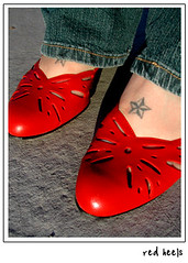 Red Heels (bumblev) Tags: fashion vintage shoes thift