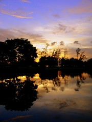 back in the tropics. (studio matahari lutong) Tags: sunset reflection water colors topv111 wonder mirror evening lutong borneo specnature 220406 oncearoundtheworld atmossphere