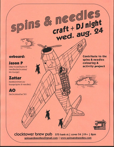 flyer - spins & needles - august 2005