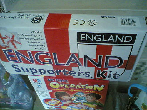England supporters kit