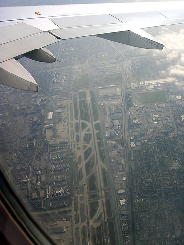 LAX on take off