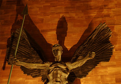 Avenging Angel (Mark Rutter) Tags: uk sculpture saint angel night michael all cathedral jacob nighttime f3 coventry midlands i20 epstein i120 markrutter