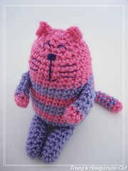 amigurumi cat 2 (ccyytt) Tags: pink animal cat purple handmade crochet craft yarn softie amigurumi staffed usewhatyouhaveapril