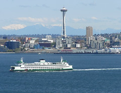 Seattle: Sound, Ferry, Needle, Mountains, Downtown