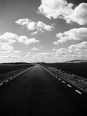 Journey to the End of the World... (Ana Bel) Tags: road street travel sky clouds spain infinity journey destination