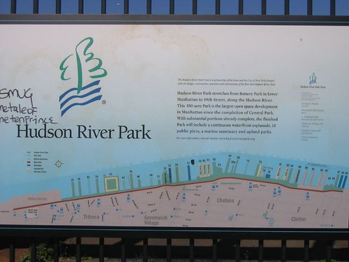 Map of Hudson River Park