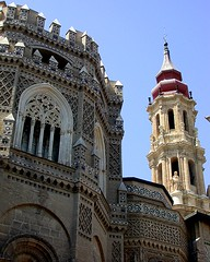 Torre Catedral de la Seo (Dario Traveso) Tags: espaa church architecture spain espanha basilica catedral iglesia zaragoza aragon spagna saragossa aragn caesaraugusta catedraldelaseo plazaelpilar dariotraveso spanha dariotravesoquelle delantedemiobjetivo