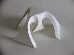Fractal form II (Richard Sweeney) Tags: sculpture art paper paperart origami fineart craft architectural fractal folded organic lampshade paperfolding papercraft papersculpture artsculpture paperstructure