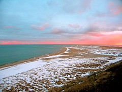 Chatham Lighthouse Beach- Winter (Chris Seufert) Tags: chris winter light sunset snow photo photographer films massachusetts christopher chatham cape cod mooncusser seufert americantowns