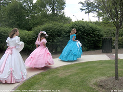belles 1 (Dystopos) Tags: pink blue girls white colors girl festival hoop temple debs birmingham dress pastel south alabama grace southern dresses sybil bhamref dogwood antebellum dixie hospitality skirts gracious anachronism teenage belles genteel dogwoodfestival vestavia vestaviahills hoopskirts debutants shadesmountain vestaviabelles sybilline