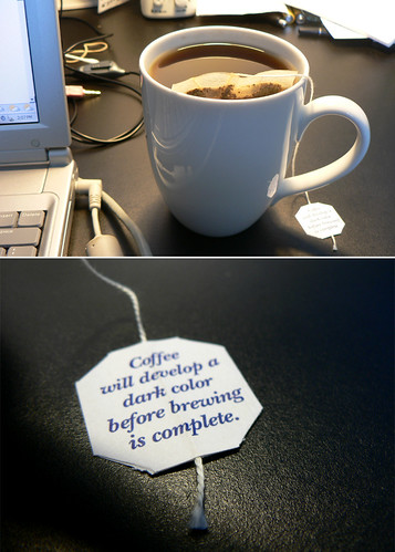 It's coffee...in a tea bag!