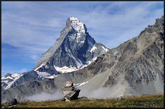 Matterhorn (_dali_) Tags: mountain alps switzerland outdoor hiking swiss cairn mountainsalps trift elevation40004500m summitmatterhorn altitude4477m hornliridge