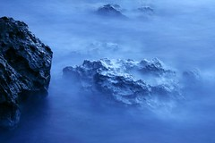 turbulence (Farl) Tags: longexposure travel blue sea beach water colors night bay coast waves philippines limestone slowshutterspeed batanes baluarte batan coralstone bluelist