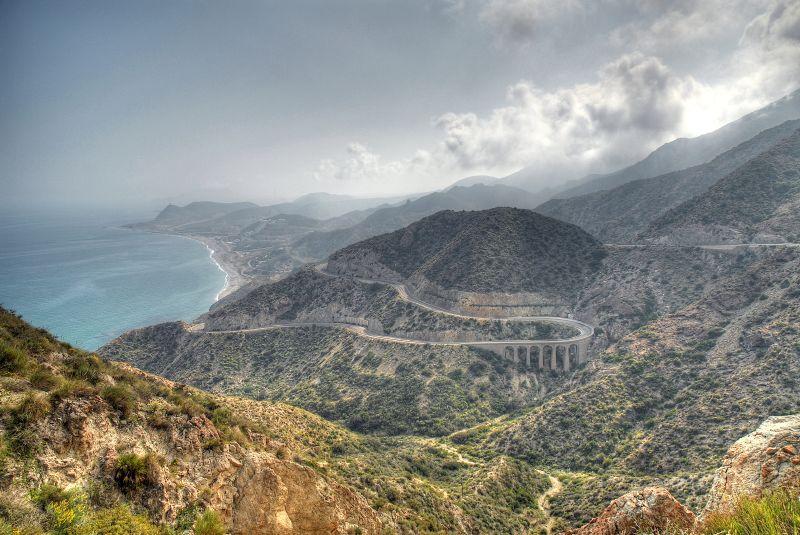 Photo d'Andalousie n°7. Route vers la plage dans la Province d'Almeria