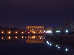 The mirror River (Isayana) Tags: tag3 taggedout night wow river lights tag2 tag1 rivire qubec nuit lumires