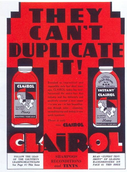"""Clairol"" ad, 1936"